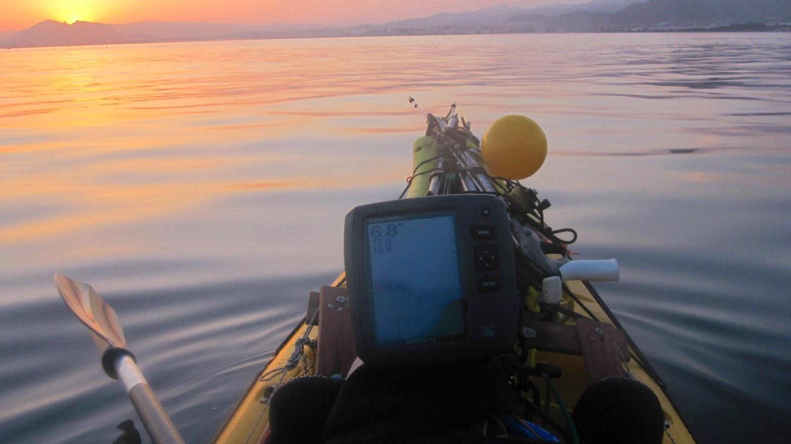 pesca desde kayak con sonda
